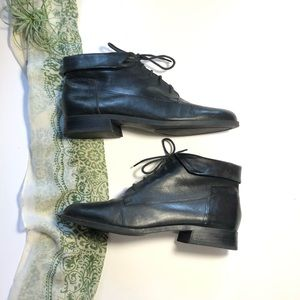 Vtg St John's Bay Ankle Granny Booties Black 9